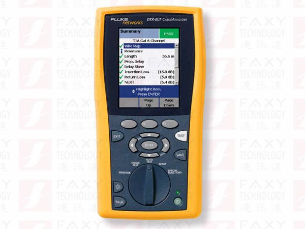 【福祿克】Fluke DTX-ELT電纜認證分析儀(DTX-ELT PRO)